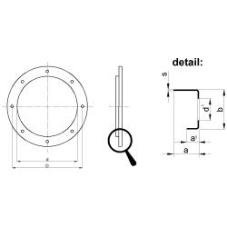 Kruhová príruba lisovaná